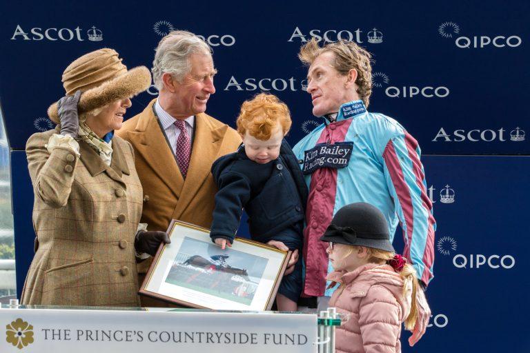HRH Prince Charles presents prize