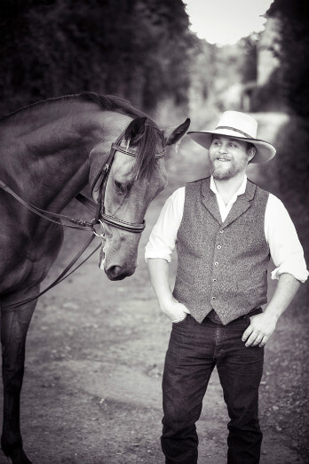 Cowboy Groom with Horse