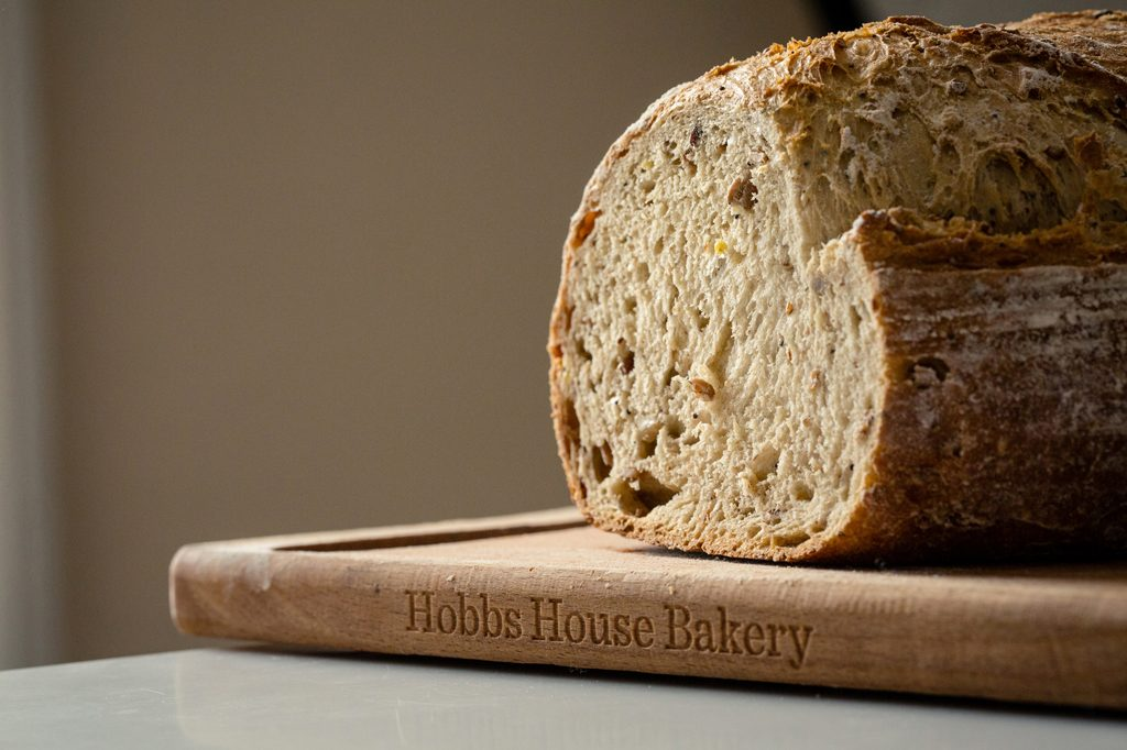 Bread on breadboard, Hobbs House Bakery, Tom Herbert, Fabulous Baker Brothers