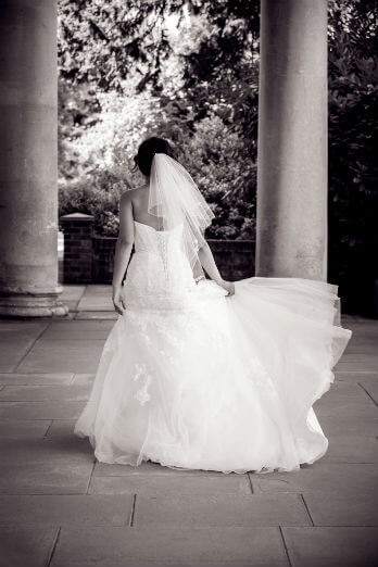 Black & White Image of Bride