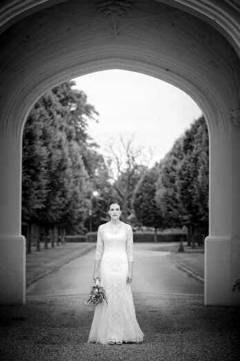 Black & White Portrait of Bride