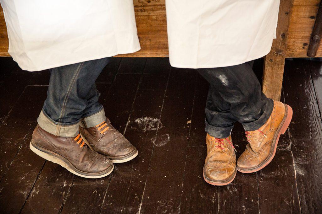 Bakers wearing Greyson shoes, Hobbs House Bakery, Tom Herbert, Henry Herbert, Fabulous Baker Brothers