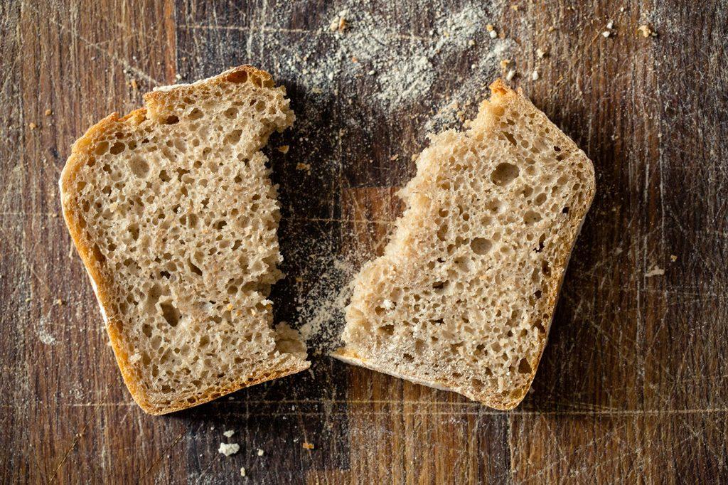 Image of slice of bread, Hobbs House Bakery, Tom Herbert, Henry Herbert, Fabulous Baker Brothers