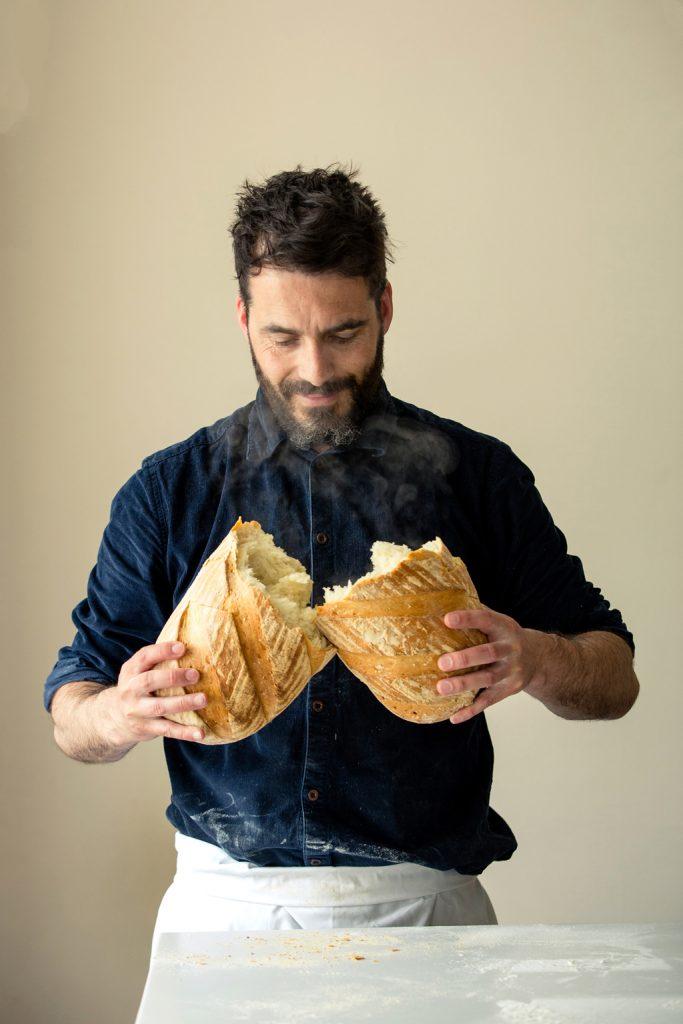 Portrait of baker, Hobbs House Bakery, Tom Herbert, Fabulous Baker Brothers