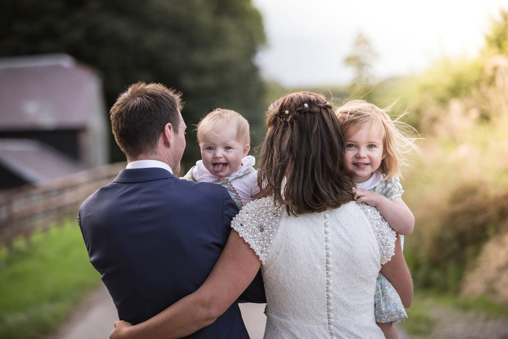 Bride & Groom with their Children