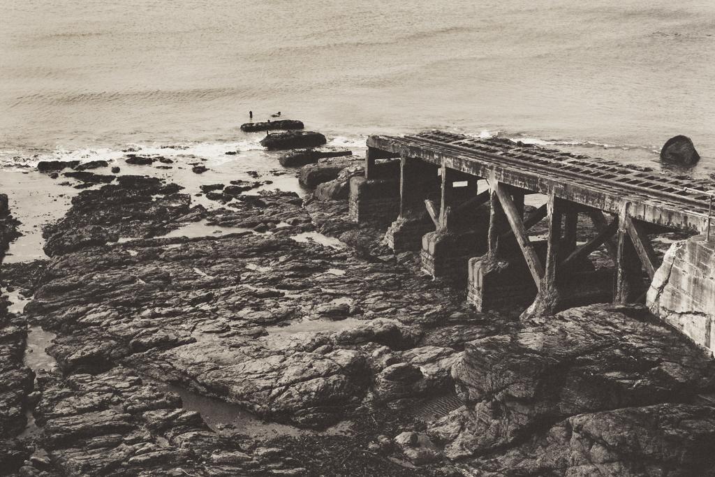 cornish coast, black & white, seascape,