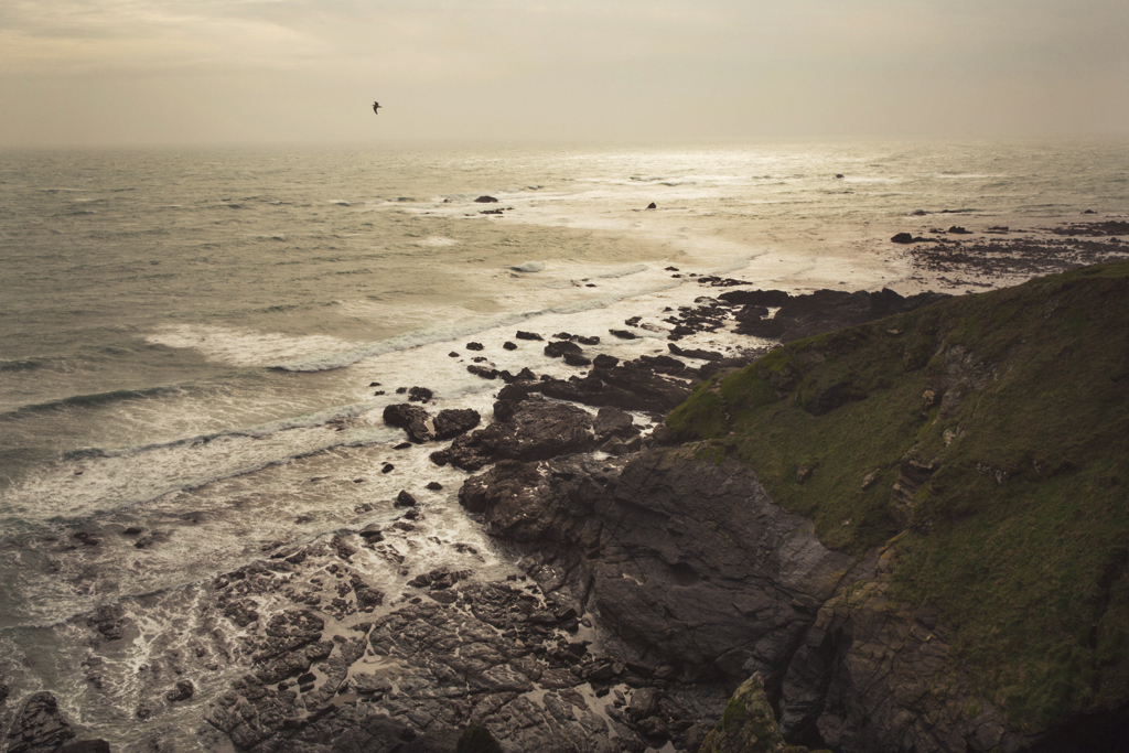 seascape, cornish coast