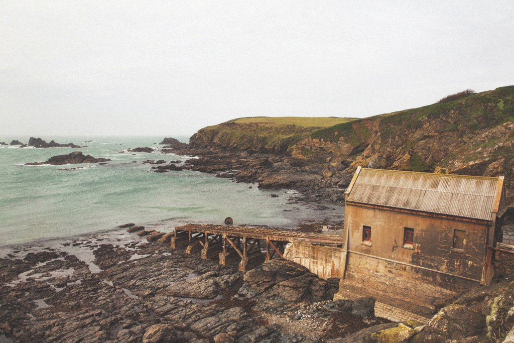 cornish coast, derelict lifeboat station